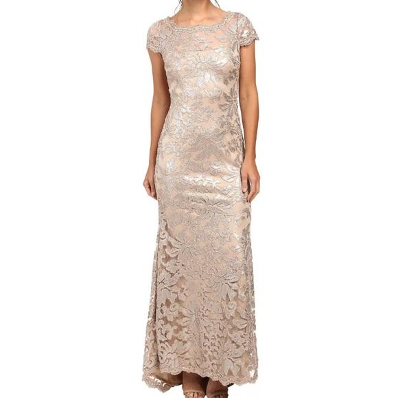 Calvin Klein Dresses Lace Sequin Evening Gown Size 12 Poshmark